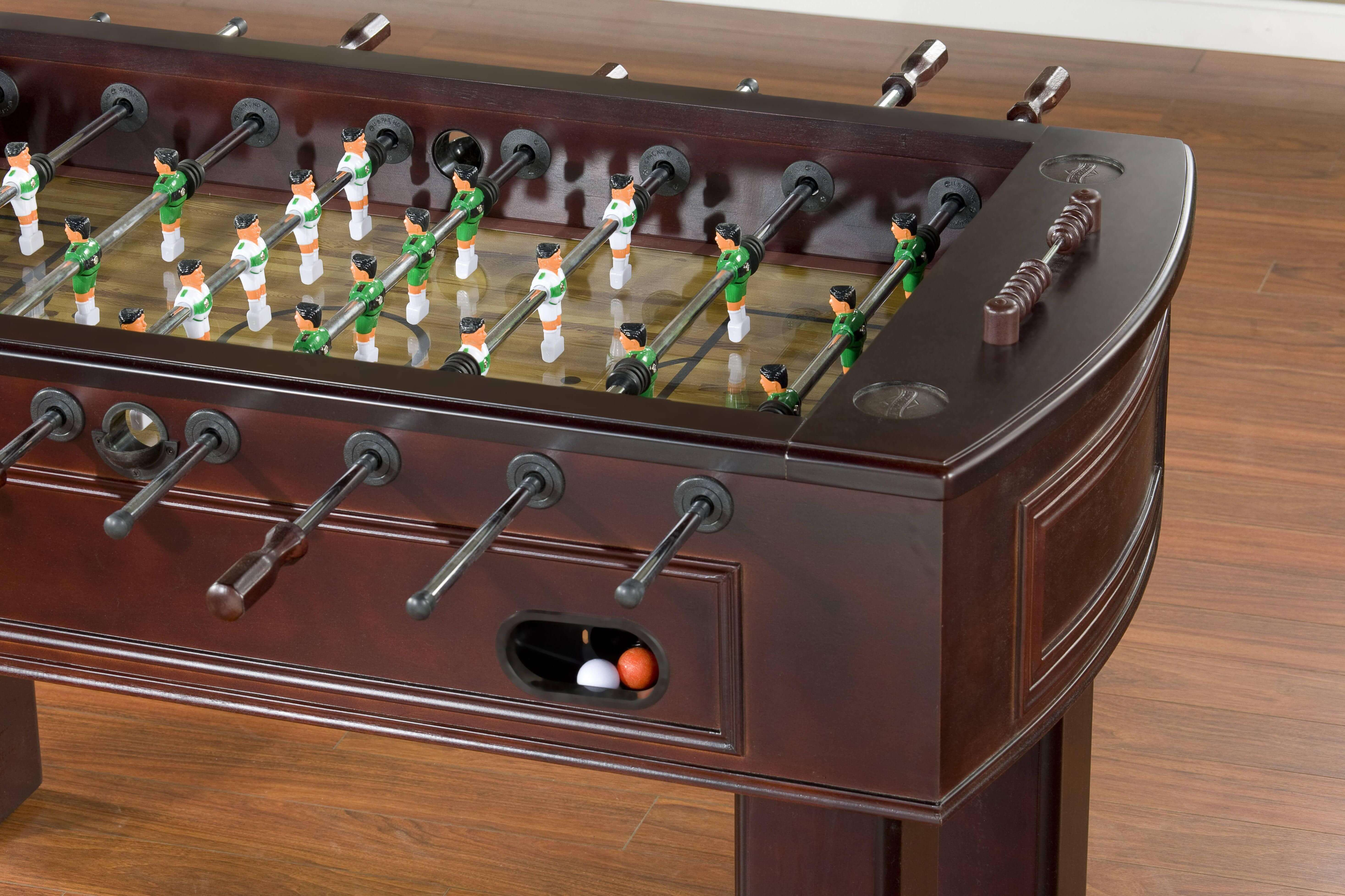 foosball coffee table america underwater decor cool metal accent marble and outdoor patio sets clearance small garden chairs kenzie high dining room little lamp console barista
