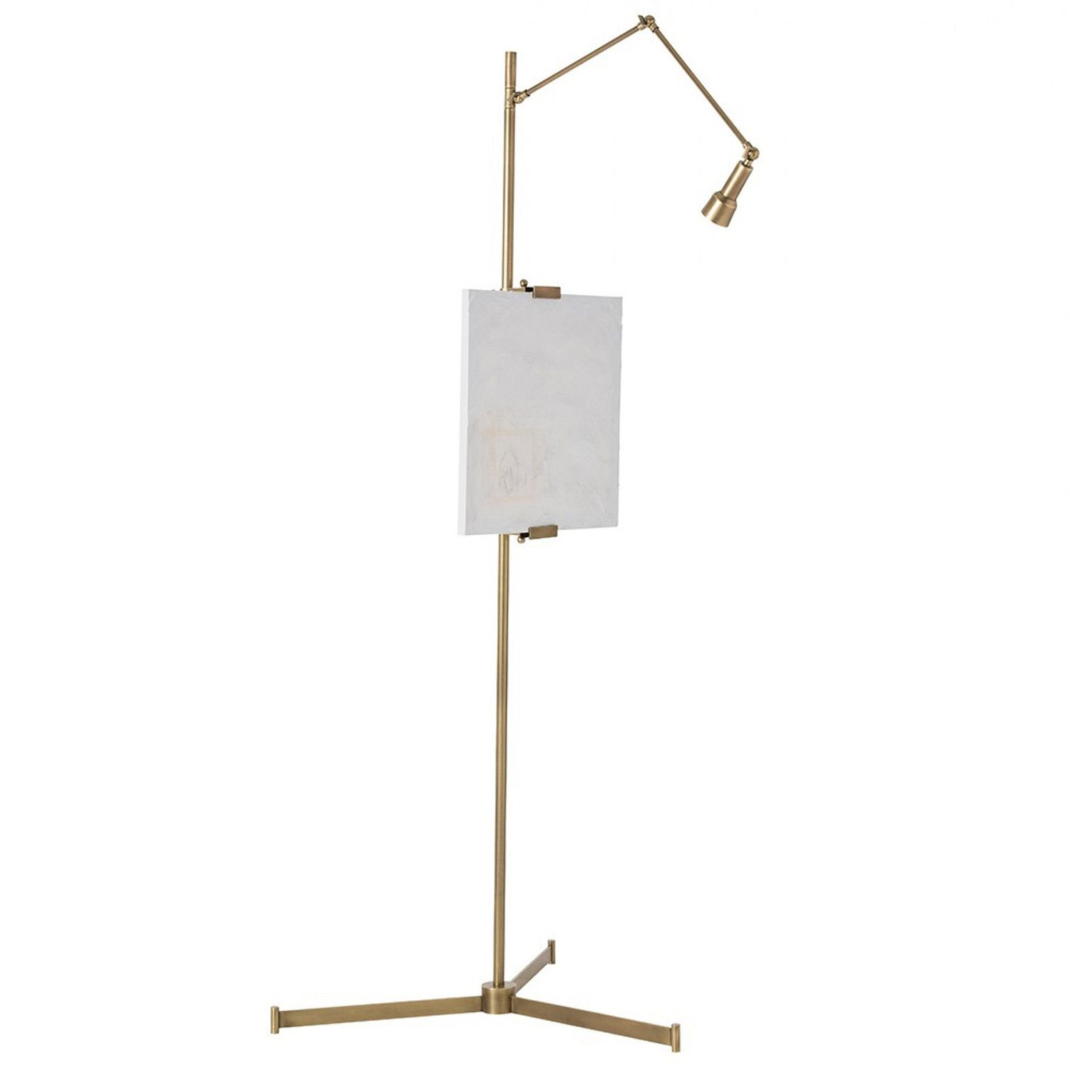 for creating artistic sanctuary the arteriors aja easel accent spotlight table lamp west elm floor illuminates with focused slim proportions modernity backsplash dimmable diy
