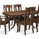 fort knox trestle table with side chairs hom furniture accent and arm uttermost tables slim couch mahogany bedside fur antique leather top end chinese style lamp shades west elm 150x150