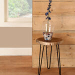 foundry select decaro acacia accent log end table reviews wood white folding outdoor side designer placemats and napkins annie sloan chalk paint furniture ideas long farm portable 150x150