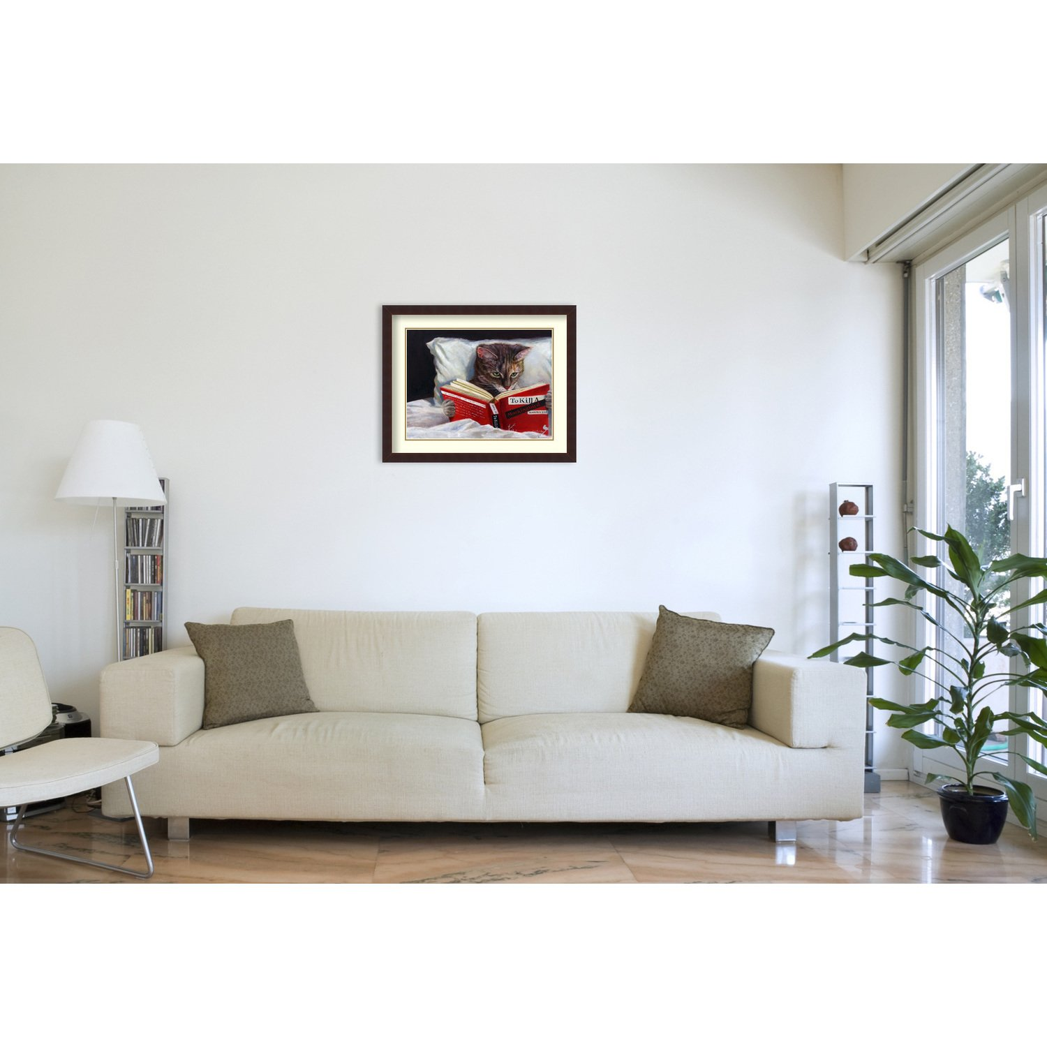 framed art print late night thriller cat lucia heffernan inch triller accent table target free shipping today slide under sofa ikea modern tables beige round tablecloth glass top