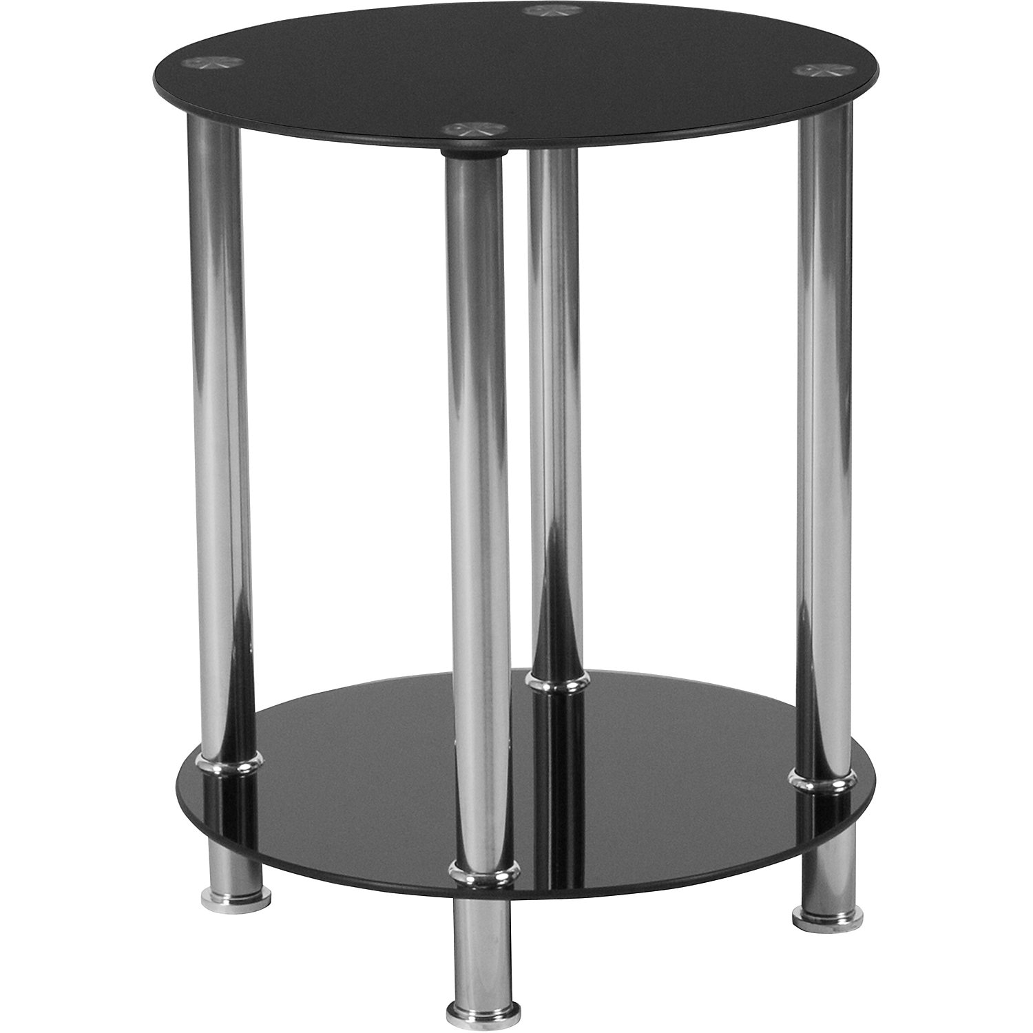 fred black glass end table accent and occasional furniture dressing ornaments pottery barn white dishes rustic edmonton bedside tables media console folding coffee turquoise