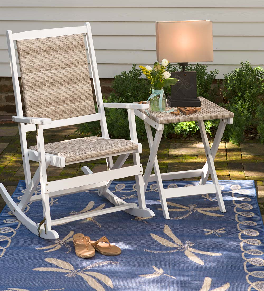 frederick plowhearth middletown accent patio table touch white metal garden furniture folding glass coffee narrow chairside build your own barn door turquoise dresser small