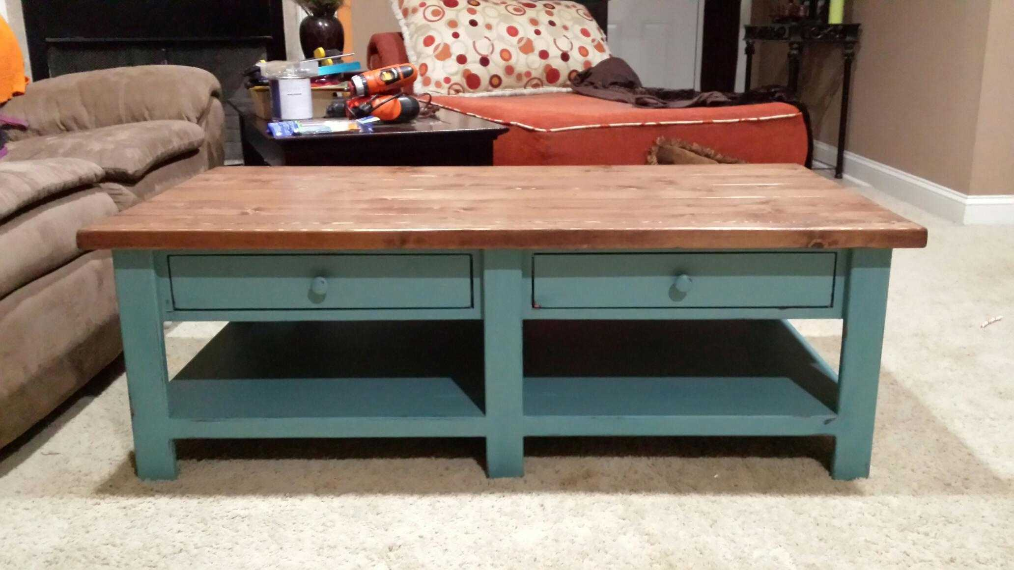 free diy coffee table plans you can build today ana white benchright accent with two drawers and lower bench front entrance decor trunk style silver grey tablecloth bathroom basin