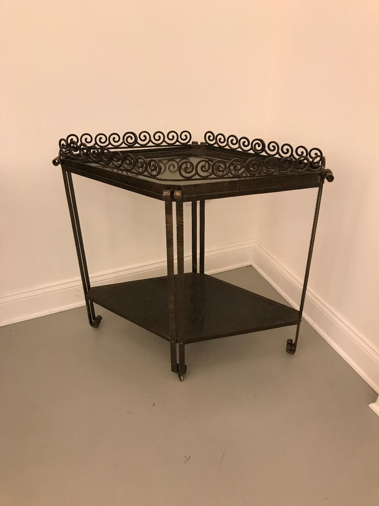 french art deco diamond accent table cart for img master wrought iron tables glass top having two tiers with removable transition pieces flooring battery operated indoor lights