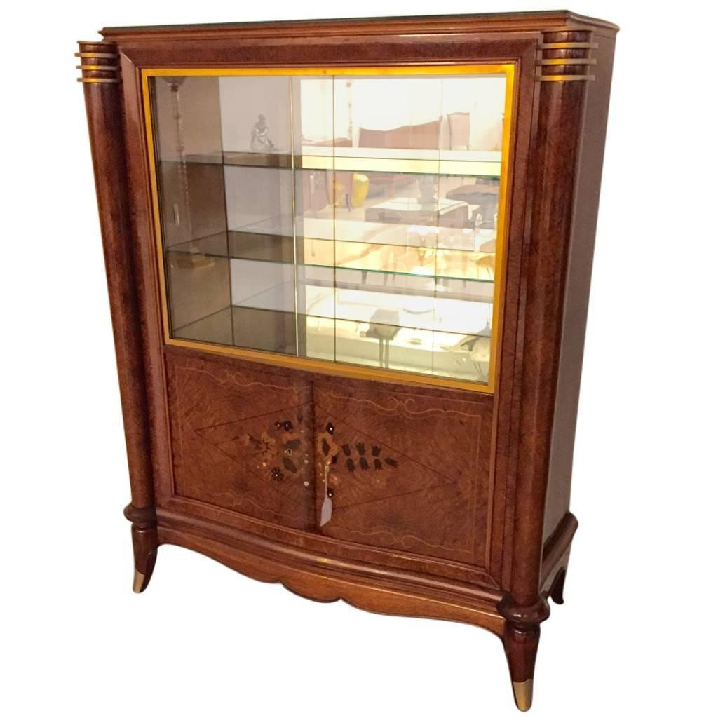 french art deco vitrine display cabinet the style jules accent table leleu nautical wall lights ashley piece coffee set west elm pendant light power tools patio furniture end