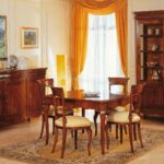 french century dining room vimercati classic furniture accent style walnut finish square table with marquetry carved chairs brass hairpin legs patio coffee umbrella hole pottery 150x150