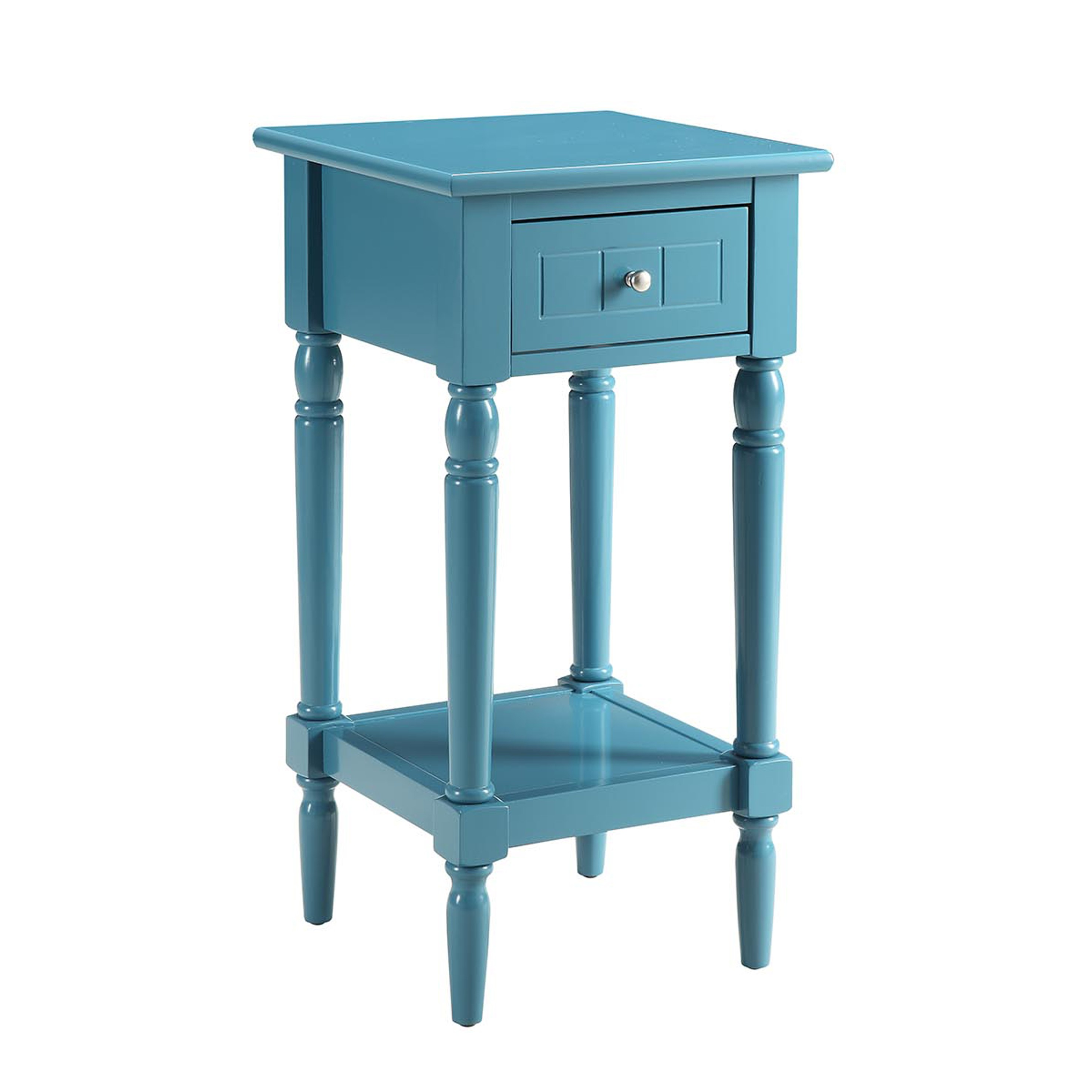 french country khloe accent table blue finish from convenience cnc resize aqua art deco lighting wrought iron end tables chair cushions outside patio set dining clearance small