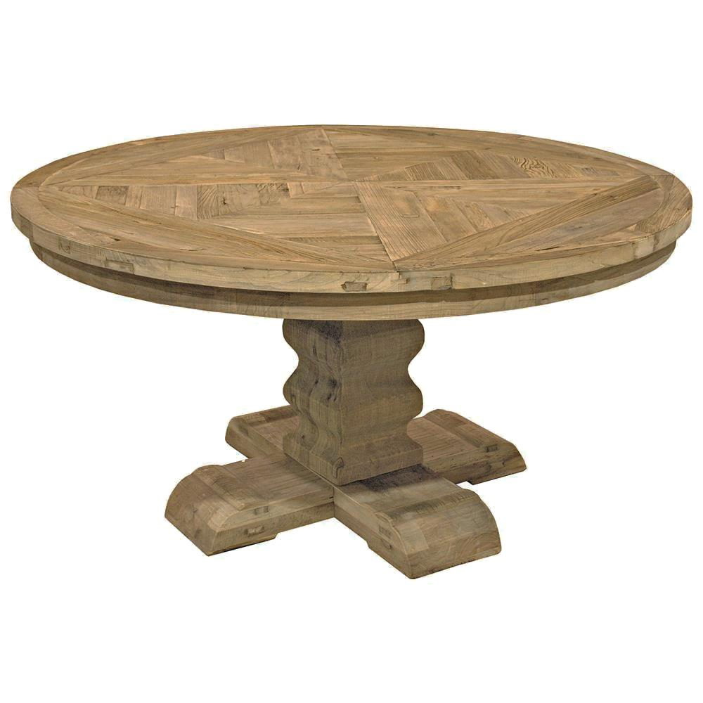 french country reclaimed elm parquet round dining table product threshold accent kathy kuo home wood and mirror coffee small with drawers sauder harbor view unfinished end tables