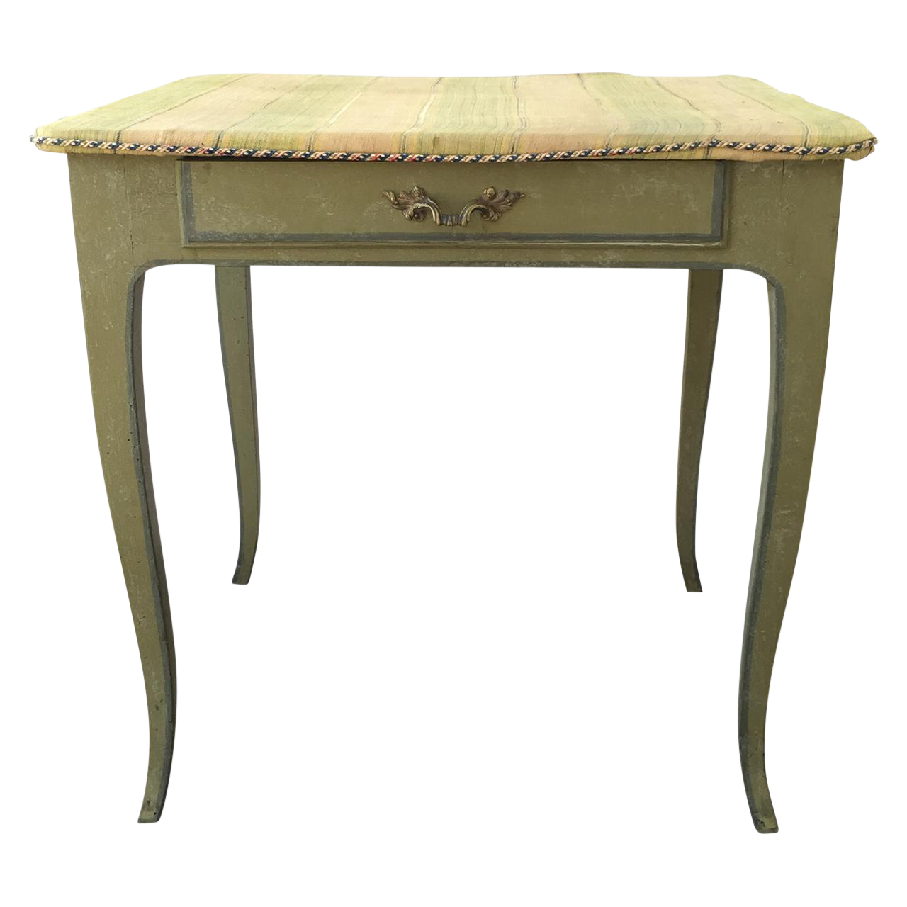 french green painted side table chairish outdoor white counter height wooden garden coffee reclaimed barn door glass top trestle frosted cylinder accent lamp small dining room