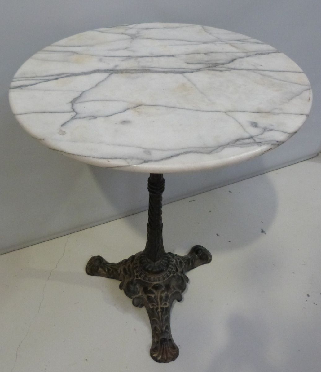 french marble top bistro table from mid vintage round stock blanchard collective accent shaped side gold decor patio sectional clearance pottery barn benchmark pool dining unique