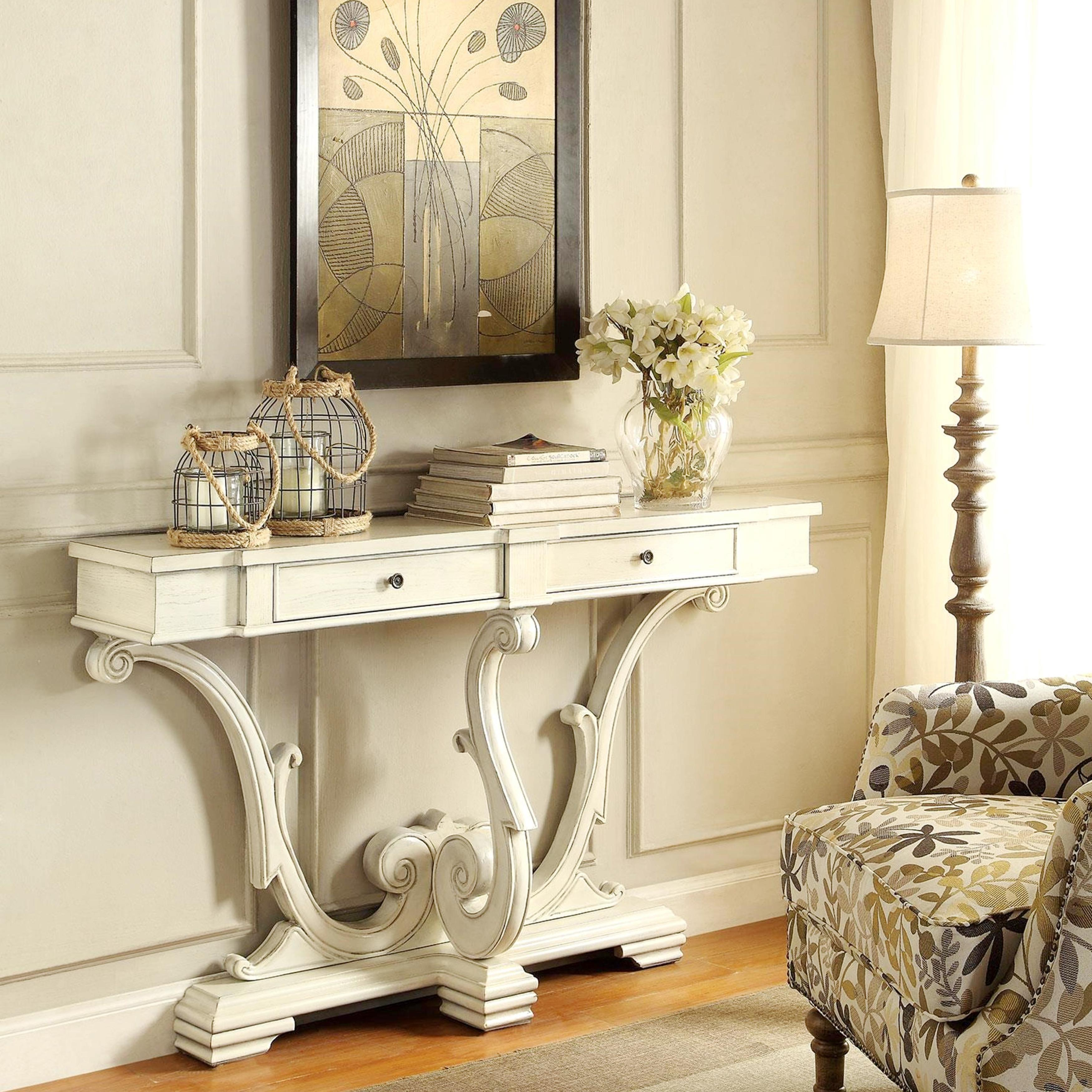 french sanctuary design antique white accent console table free shipping today glass bedside drawers lamps pottery barn flooring black and cream rug quilted runners patterns teak