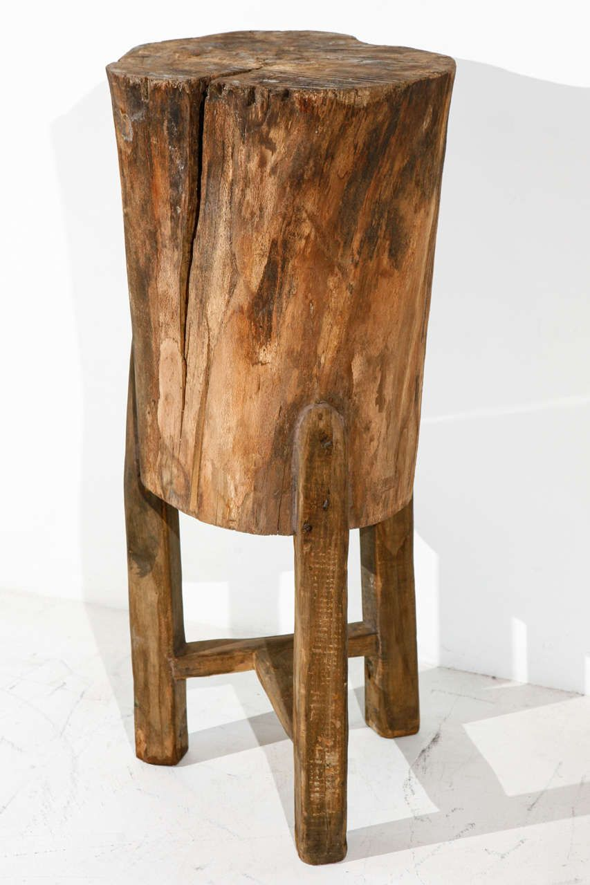 fresco tree trunk side table contribute immense natural accent cupcake carrier target patio dining clearance west elm shades kitchen napkins outdoor swing chair french antique