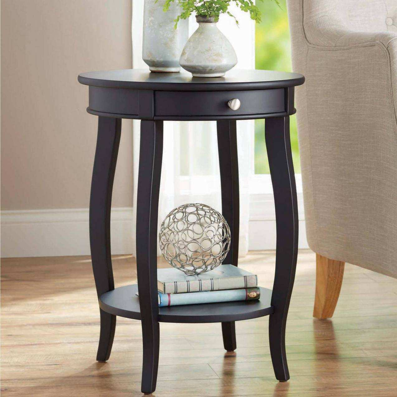 fresh round end tables lepeededamocles info lovely better homes amp gardens accent table with drawer multiple and colors pier chairs carpet termination strip white cube tablecloth