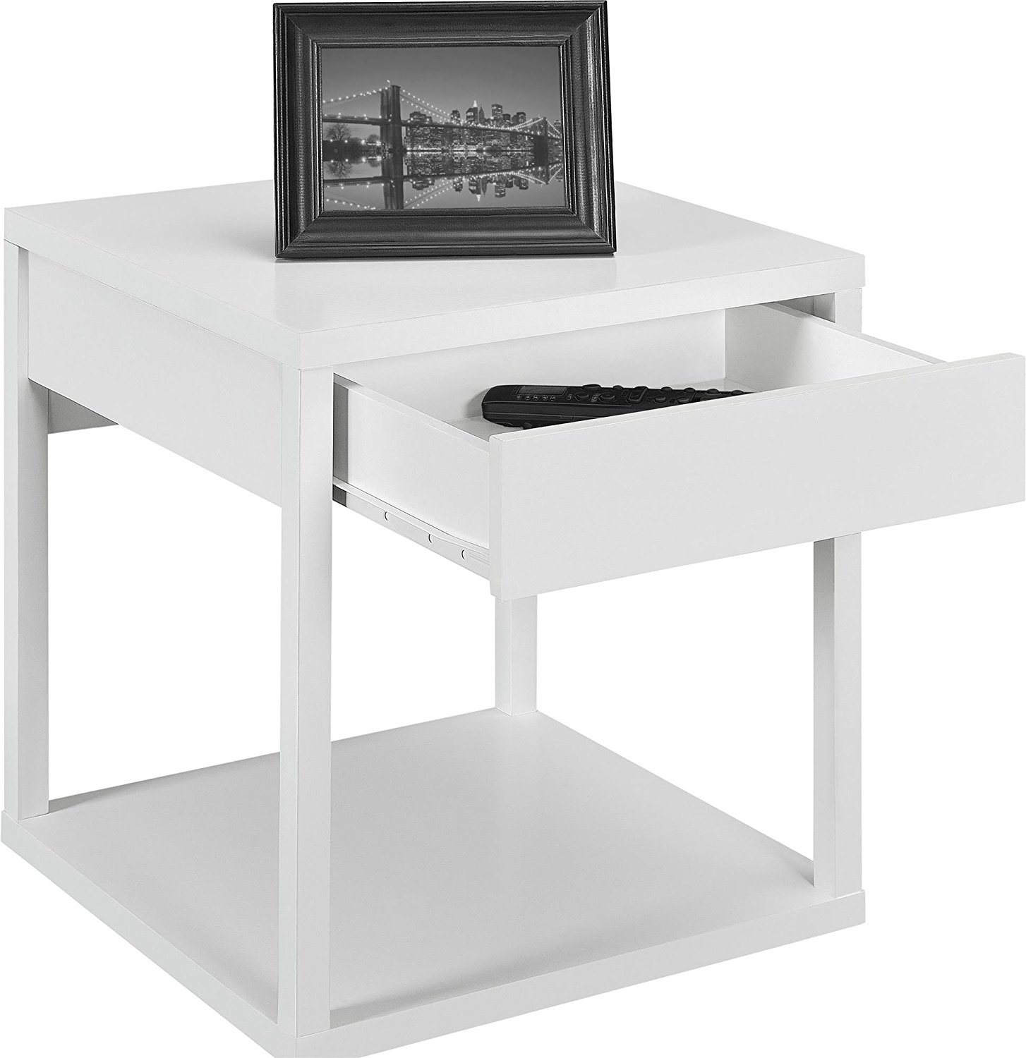 fresh white end table with drawer margate threshold target storage parson kitchen dining decor ikea for living room dark wood top basket magazine rack charging station glass door