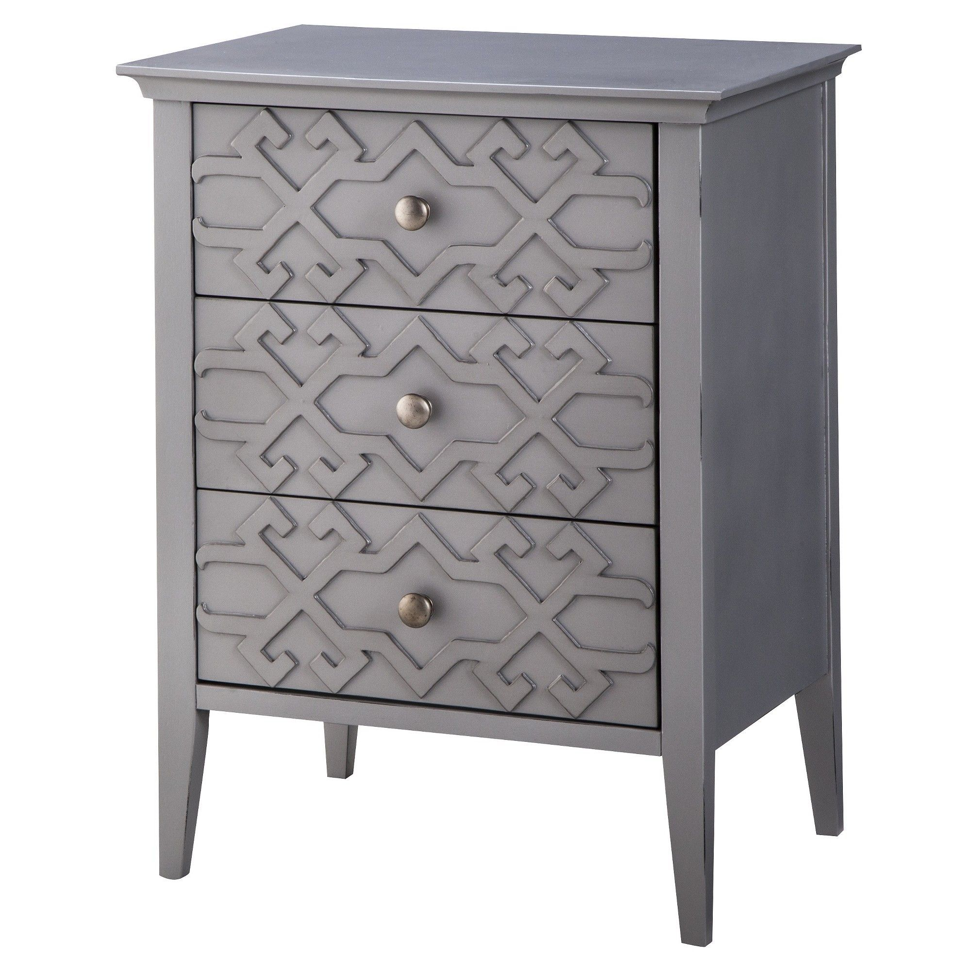 fretwork accent table threshold gray products white ashley furniture chairs pottery barn pedestal brown metal coffee copper floor lamp laura height room essentials bedding west