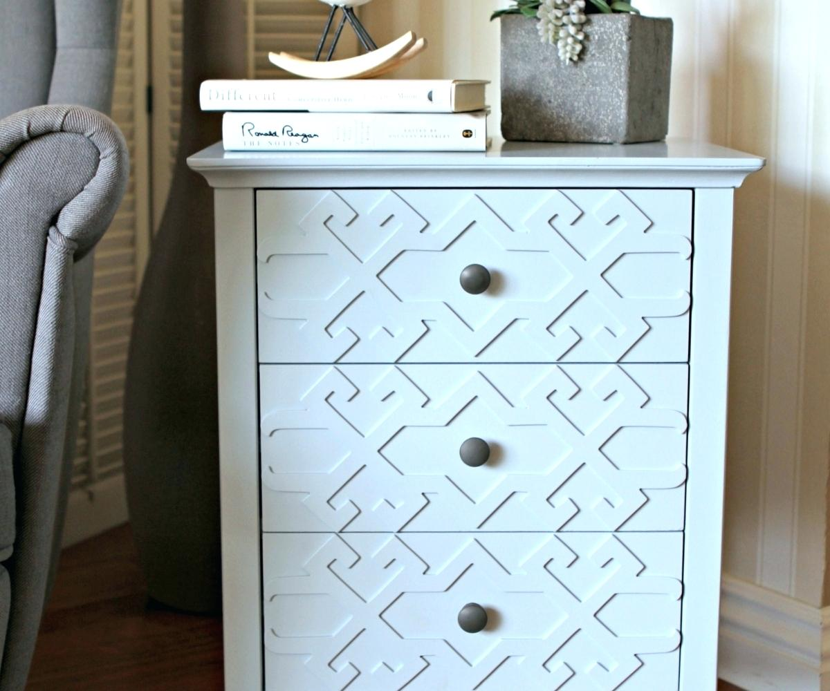 fretwork accent table threshold honeycomb polished hardwood white lso the summer wheat teal cabinet door knobs red end target outside patio bar gold circle coffee diy round high