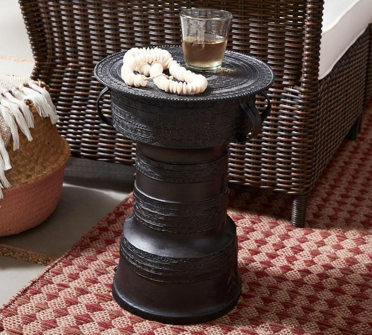 frog drum accent tables pottery barn media table furniture dining signature bedroom oak wood side kitchen sideboard antique bedside pulls slide under sofa ikea crystal lamps