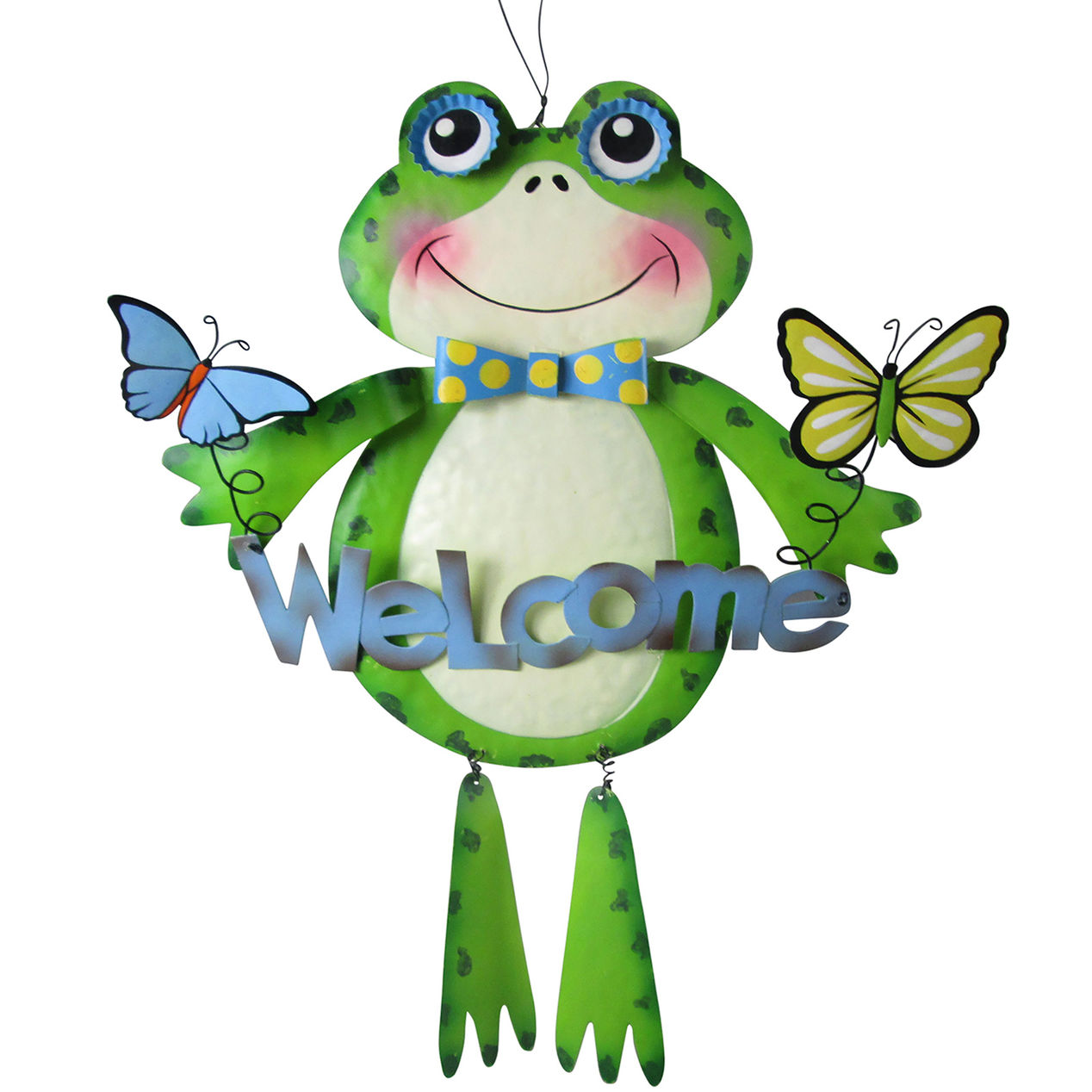 frog welcome metal sign home drum accent tables fitted round table covers vinyl wagon wheel furniture designer placemats and napkins large mirror water filter teak patio steel