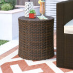 front porch wicker furniture mazzella barrel side table outdoor accent quickview building legs inch wall clock patio cooler hoodie jacket mounted dining with wine rack tall lamp 150x150
