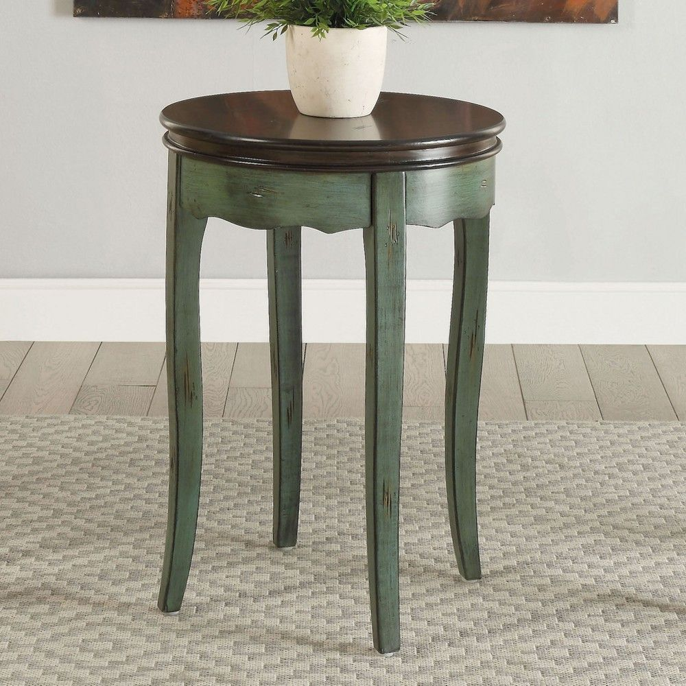 fuchs vintage style side table green homes inside out accent barn dining quilted runners small space furniture solutions unfinished chairs nesting cocktail set wood slab waterford