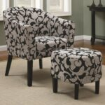 funiture beige fabric wingback accent chairs with brown throw glpowing laminate hardwood floor mixed entranching cream rug and dark wooden framed table also sweet floral motifed 150x150