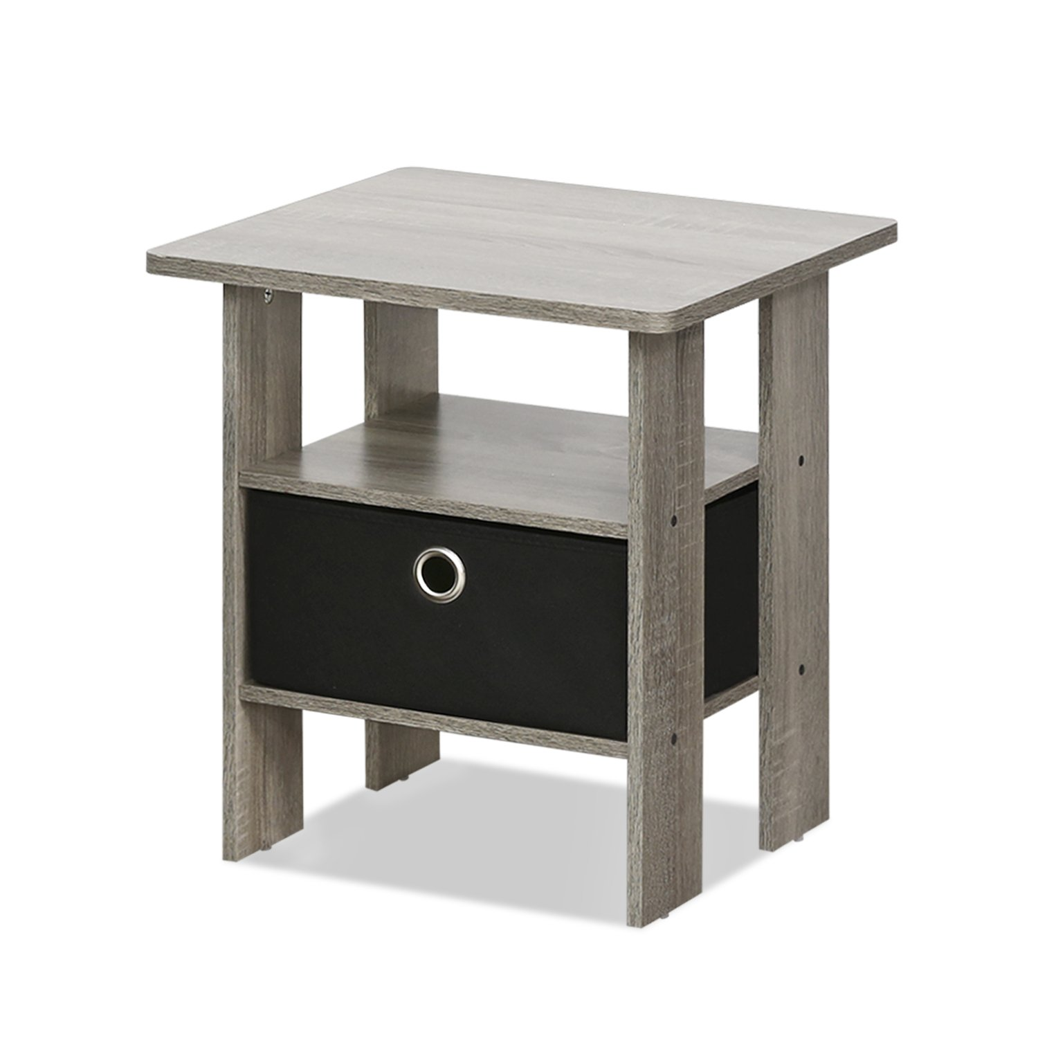 furinno night stand end table french oak storage accent black room essentials grey kitchen dining white rug home goods curtains inch wide sofa counter height with chairs breakfast