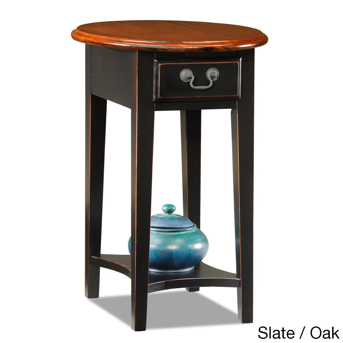 furnishings hardwood oval side table black finish low small oak accent tables your living room couch with this piece crafted large corner target chair covers modern round arm