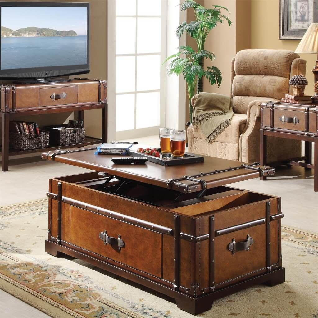 furniture accent trunk lift top living room coffee table with matching stand and end design lamps for black side tables metal frame wood uttermost lighting high behind couch