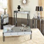 furniture accessories unique modern mirrored glass accent table sleek living room inerior hall mudroom decor with all round unusual shaped telesco legs ethan allen outdoor 150x150