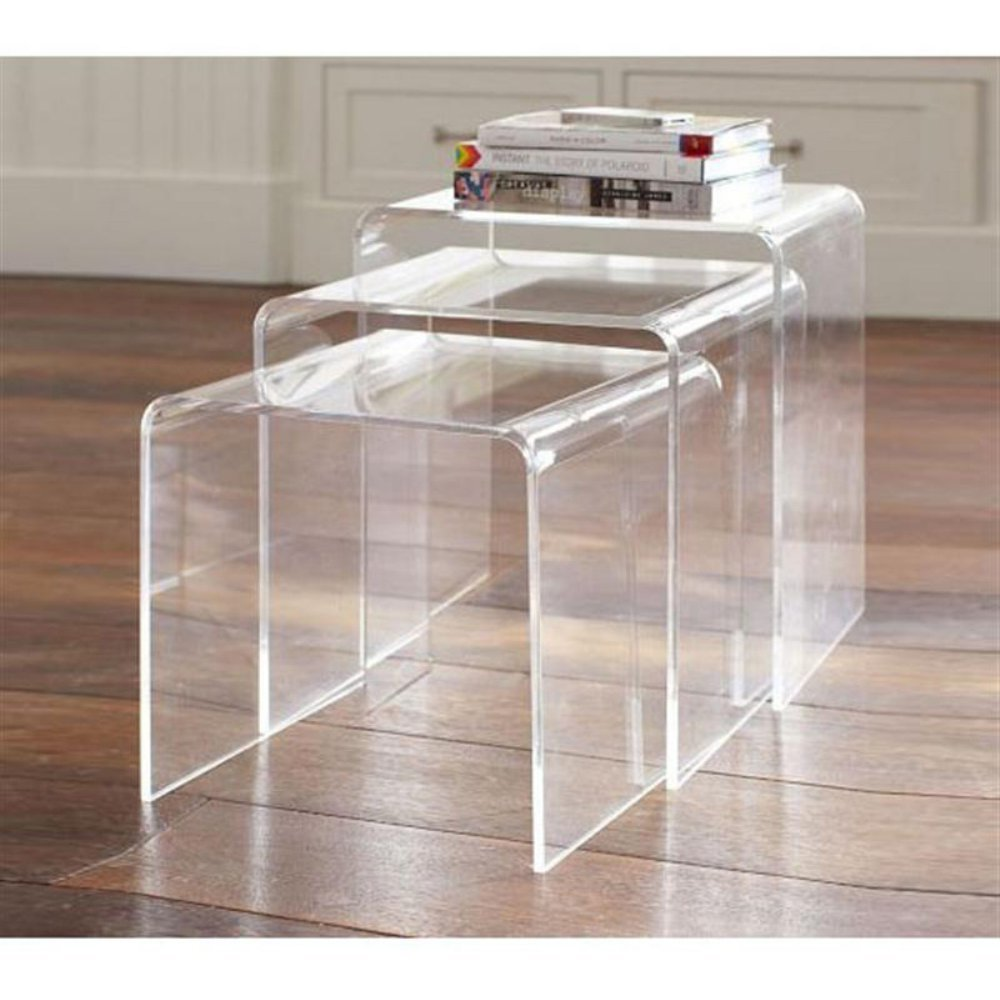 furniture acrylic keep your room feeling open and airy tray table small console dining chair legs clear vanity diane von furstenberg thick plexiglass top simply accent pier one