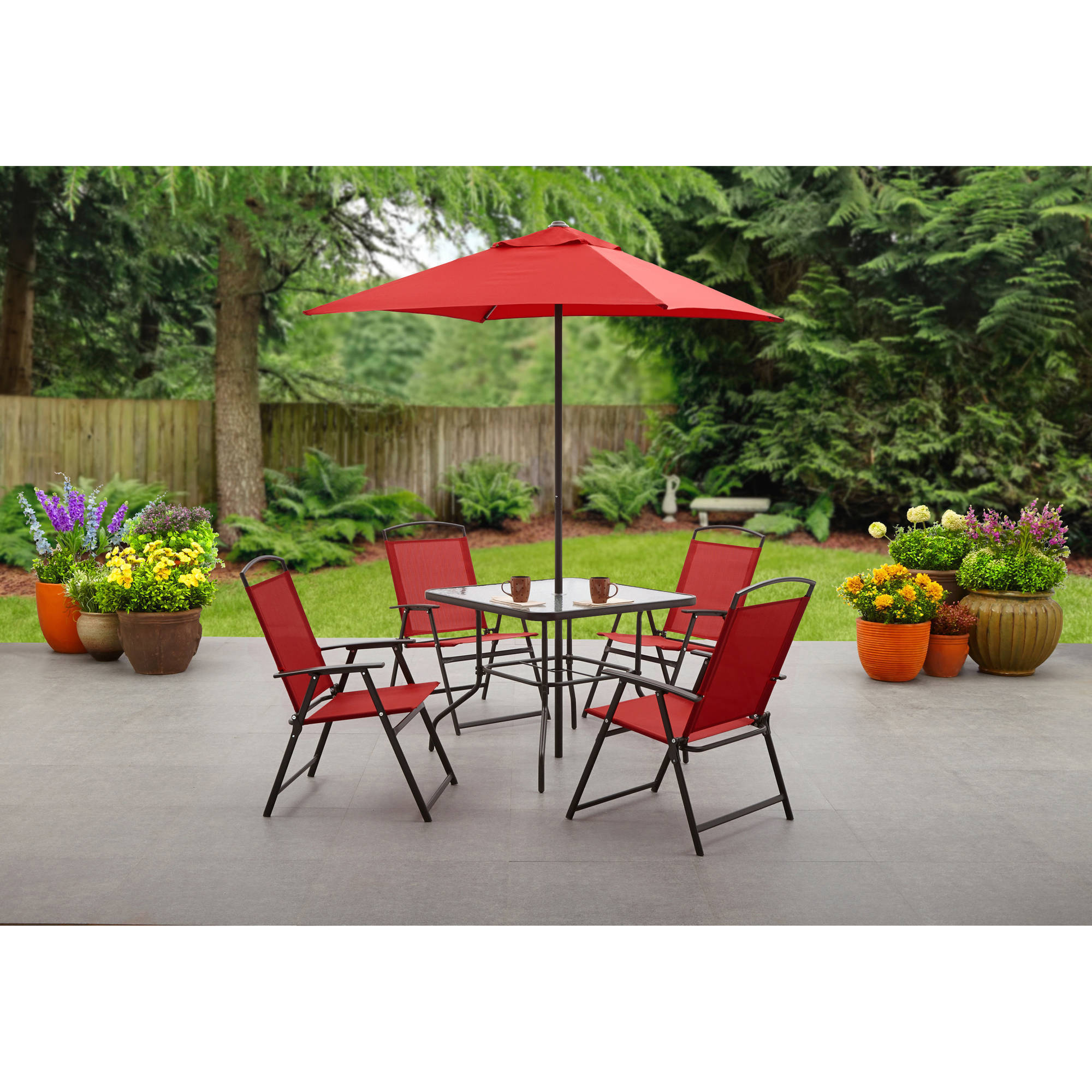furniture amazing mainstays patio for your outdoor design with perfect sling folding chair and bedding side table bench cushions better umbrella square coffee pottery barn nate