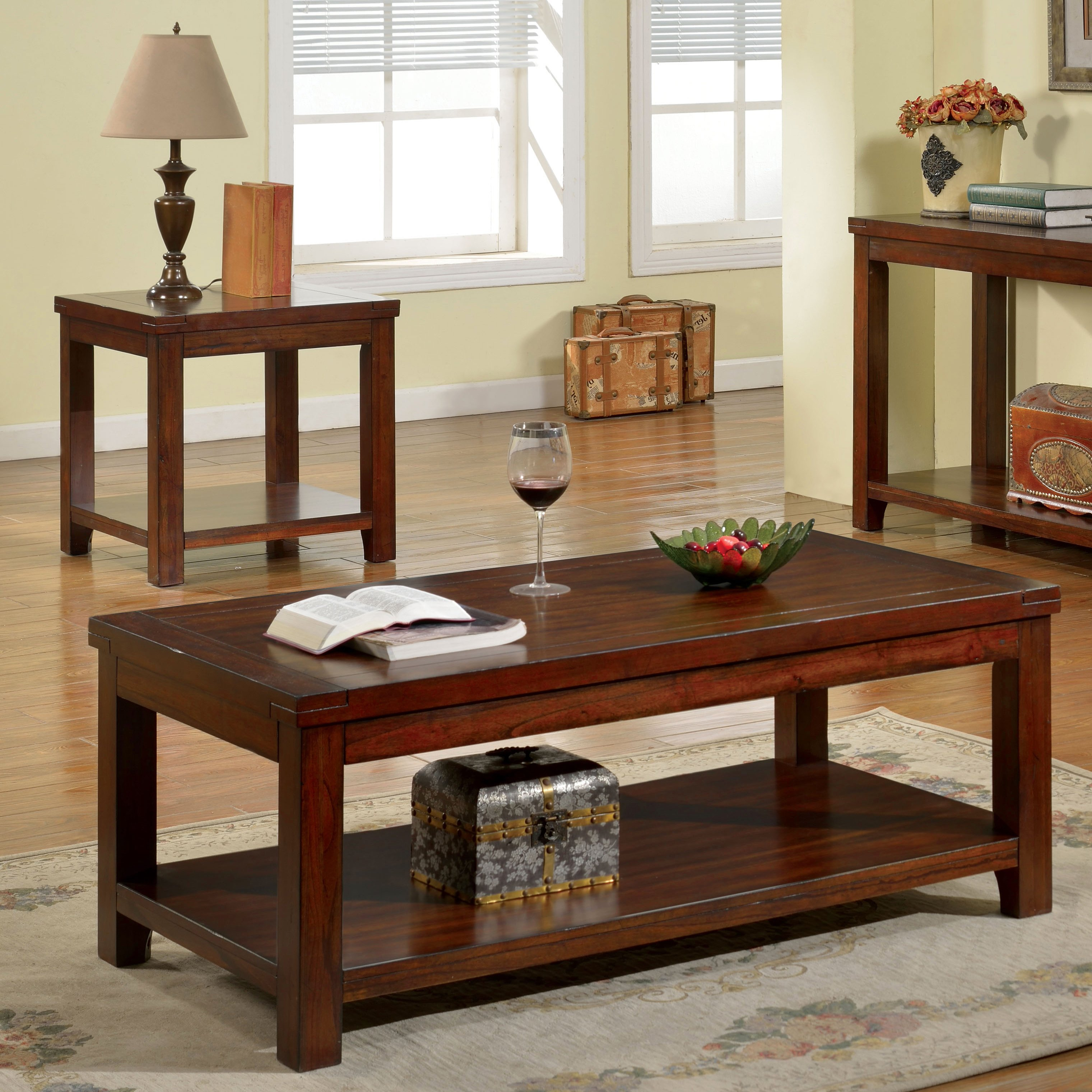 furniture america ambelle dark cherry piece accent table set wood free shipping today black dining pier one frames oak threshold trim narrow sofa console pottery barn rustic
