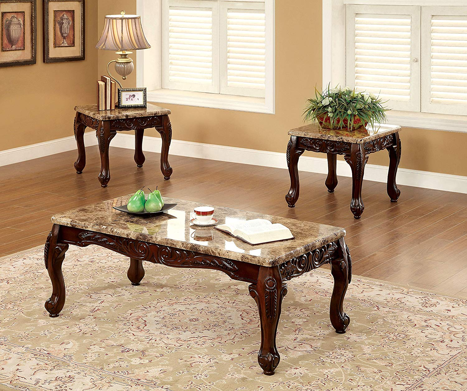 furniture america beltran piece traditional faux harrietta accent table set marble top tables dark oak kitchen dining bar height red nesting side for living room small metal end