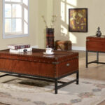 furniture america cherry reichel piece trunk style accent table set prod corner accents narrow trestle dining glass top patio gold setting half circle console matching bedside 150x150