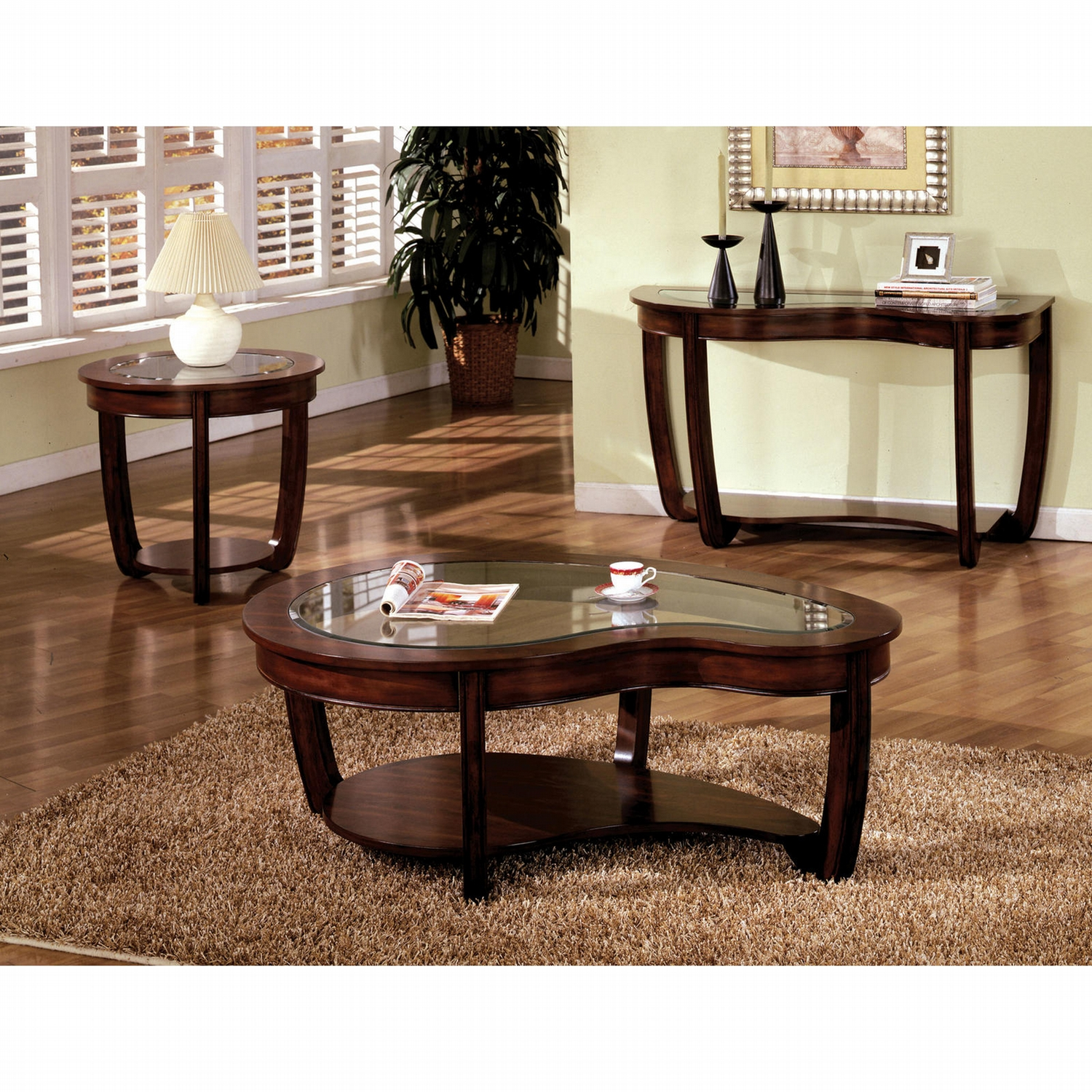 furniture america dark cherry coleen piece accent table set get wood backyard ethan allen leather sofa ikea slim storage outdoor patio covers dale tiffany lamps mini crystal lamp