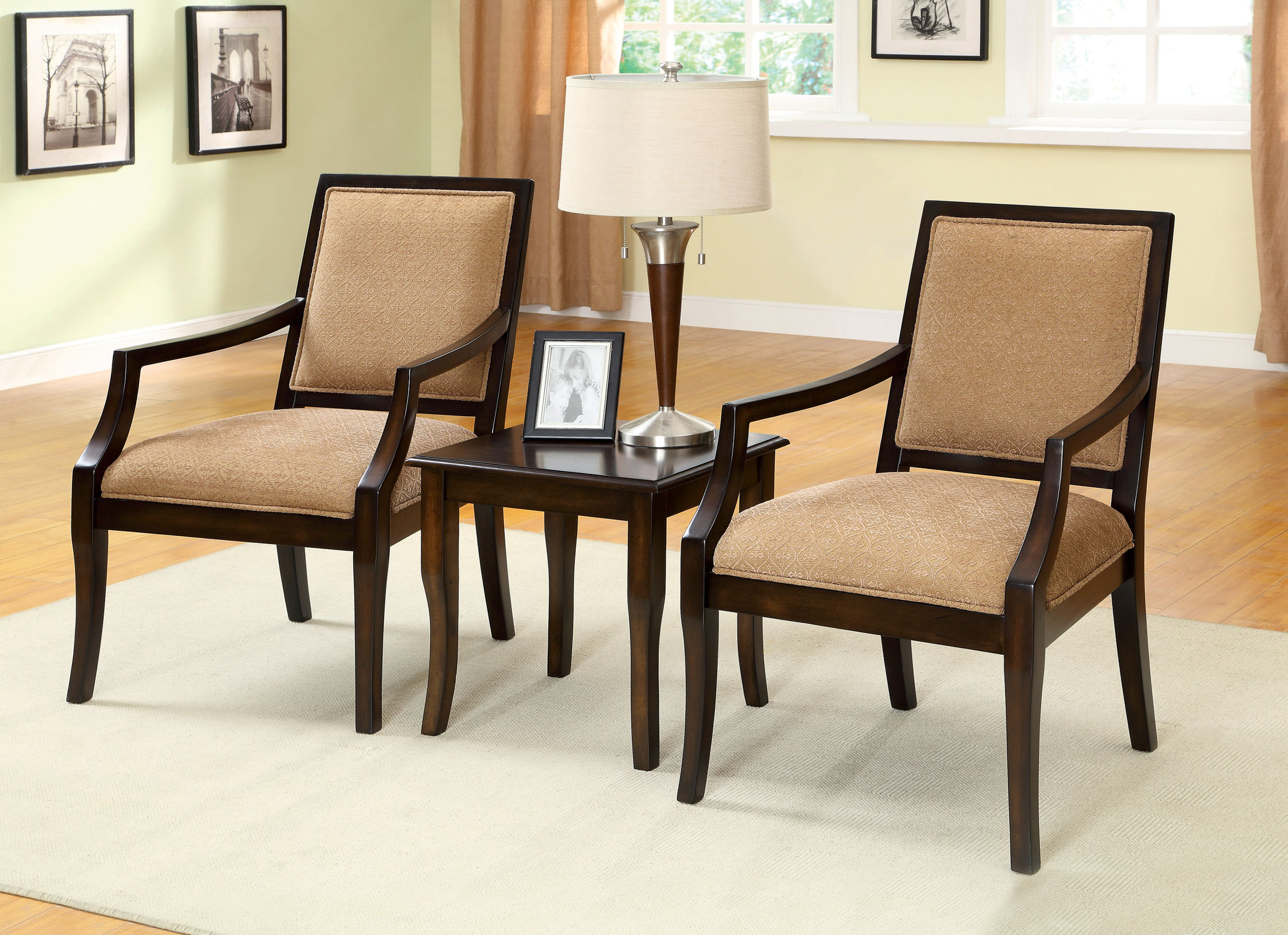 furniture america espresso latio piece accent chair and table set prod chairs with wooden lamps for living room gray chest oval dining cover uma console clearance kitchen pottery