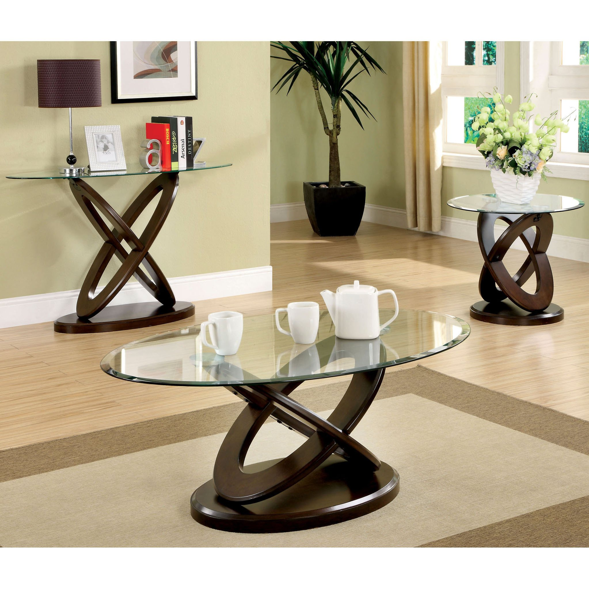 furniture america evalline piece dark walnut accent table set free shipping today beach style lamps outdoor bistro contemporary console tables student desk for bedroom round
