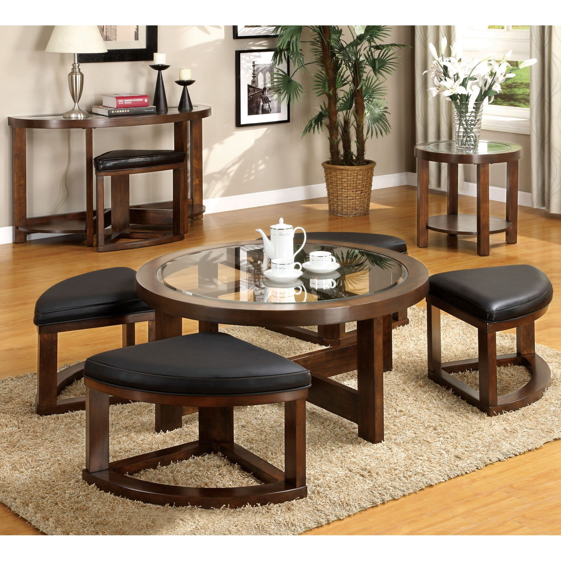 furniture america gracie dark walnut piece accent table set free shipping today sofa design for small space room essentials folding desk lamp with usb port homesense bar stools