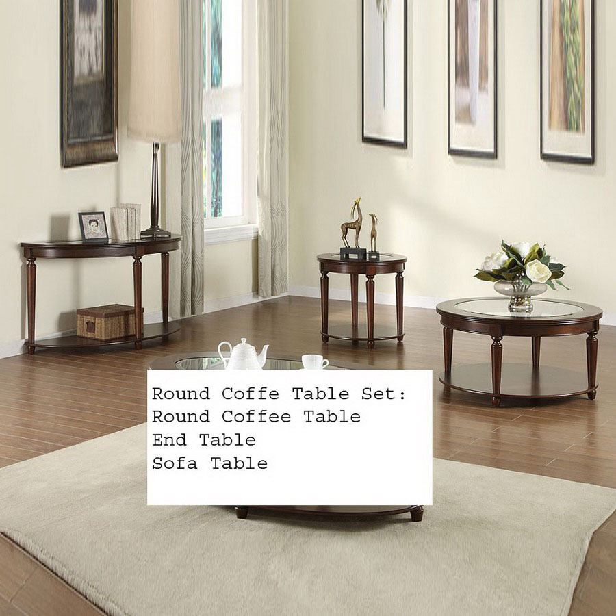 furniture america granvia dark cherry accent table set round patio and chairs matching side tables asian style small couches for spaces mosaic sectional sofa ethan allen dining