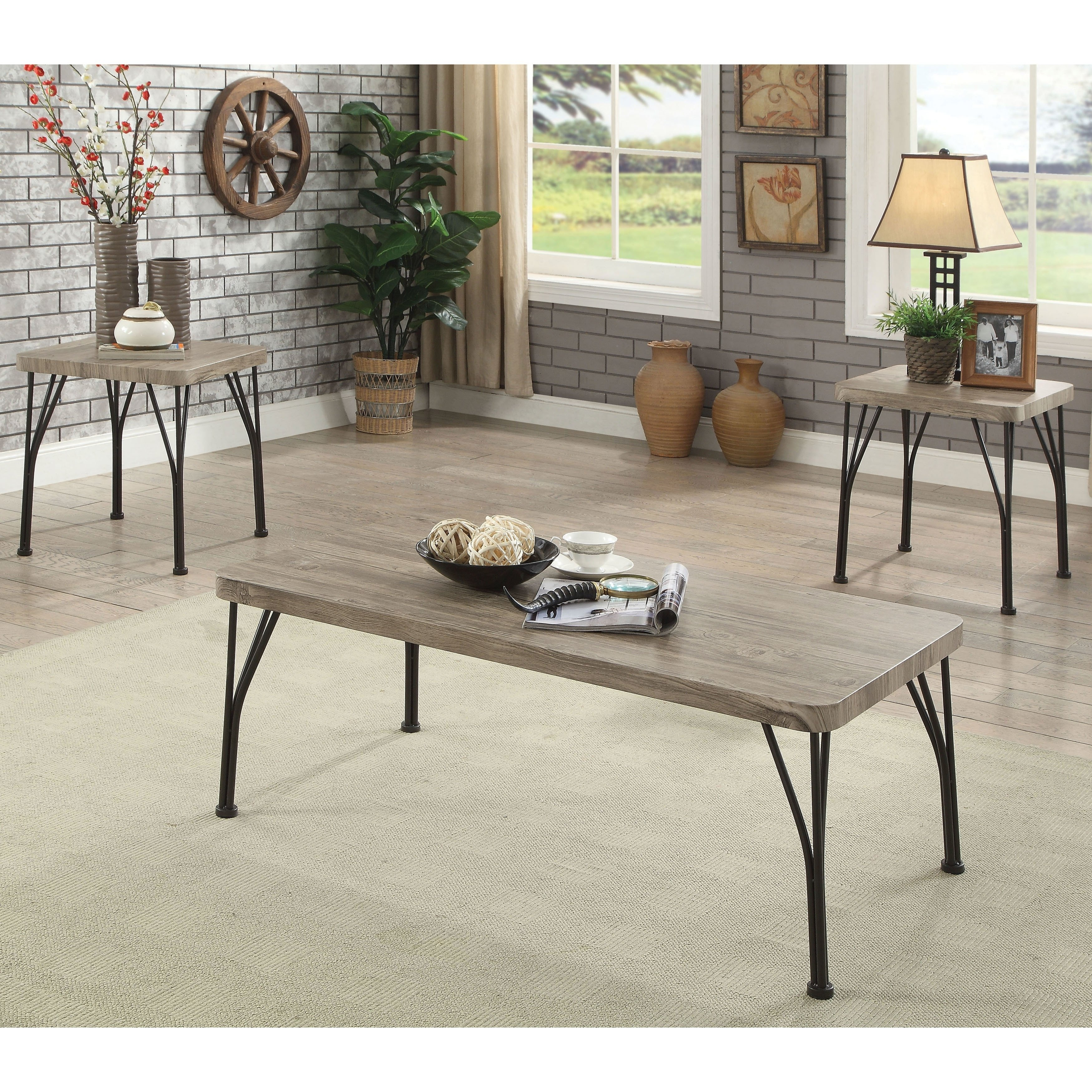 furniture america hathway industrial metal piece accent table set contemporary lamps hollywood glam corner entry jcpenney bag folding nesting tables pipe end large round wall