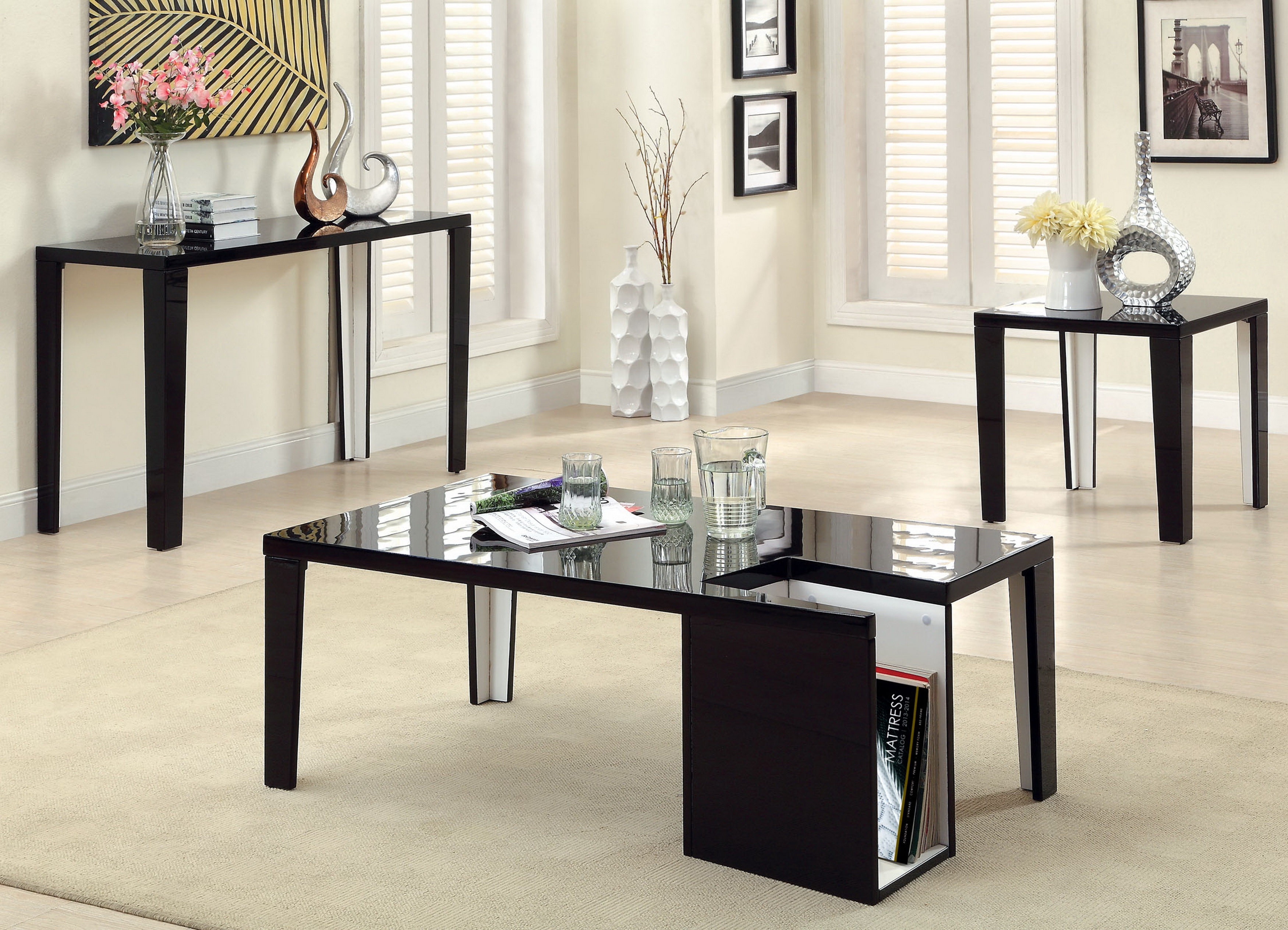 furniture america khroma high gloss piece accent table set prod sofa and vintage drop leaf dining round glass industrial pipe end pottery barn beds contemporary lamps small