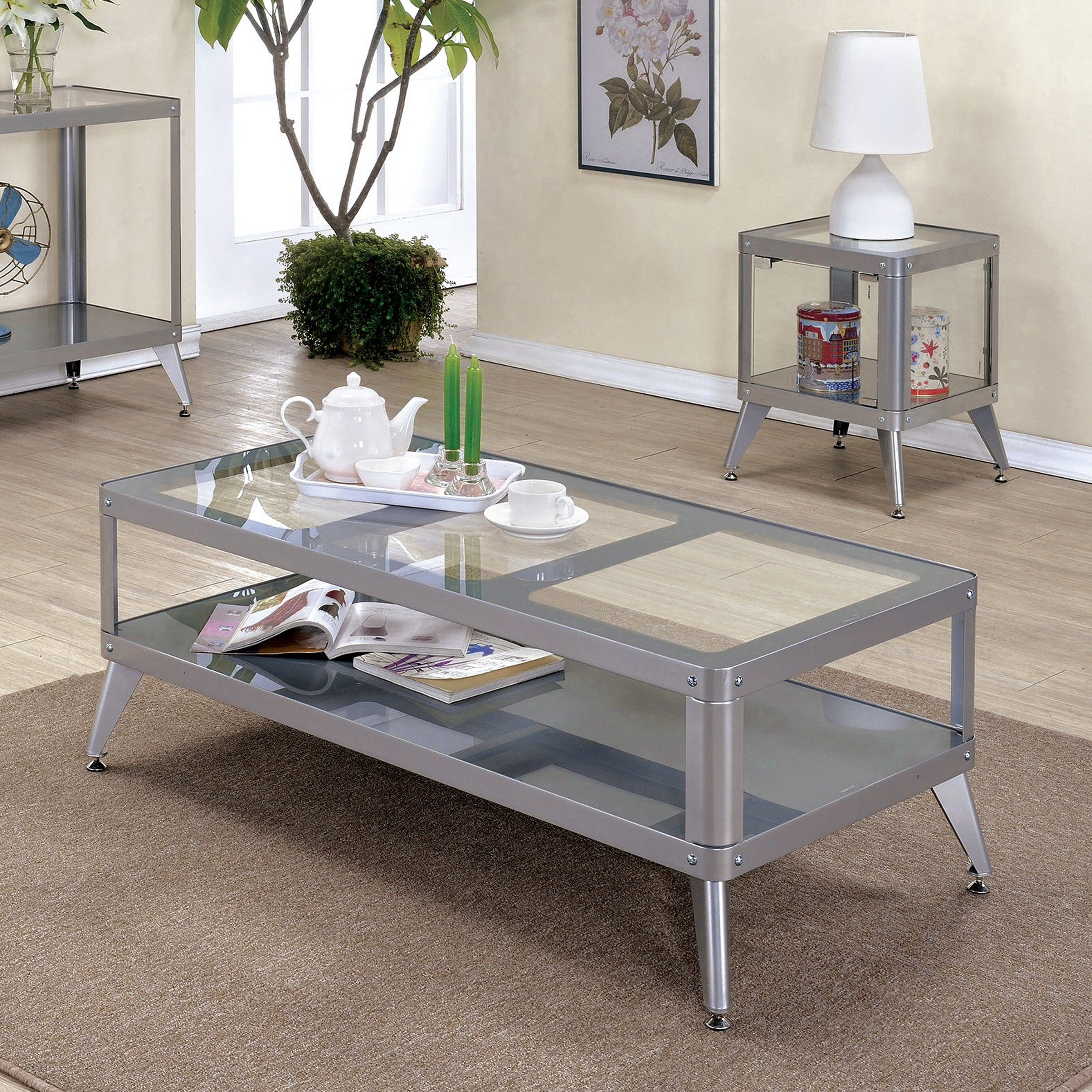 furniture america linden modern piece glass top metal accent table set with free shipping today hampton bay pembrey cube coffee garden battery operated indoor lamps marble stone
