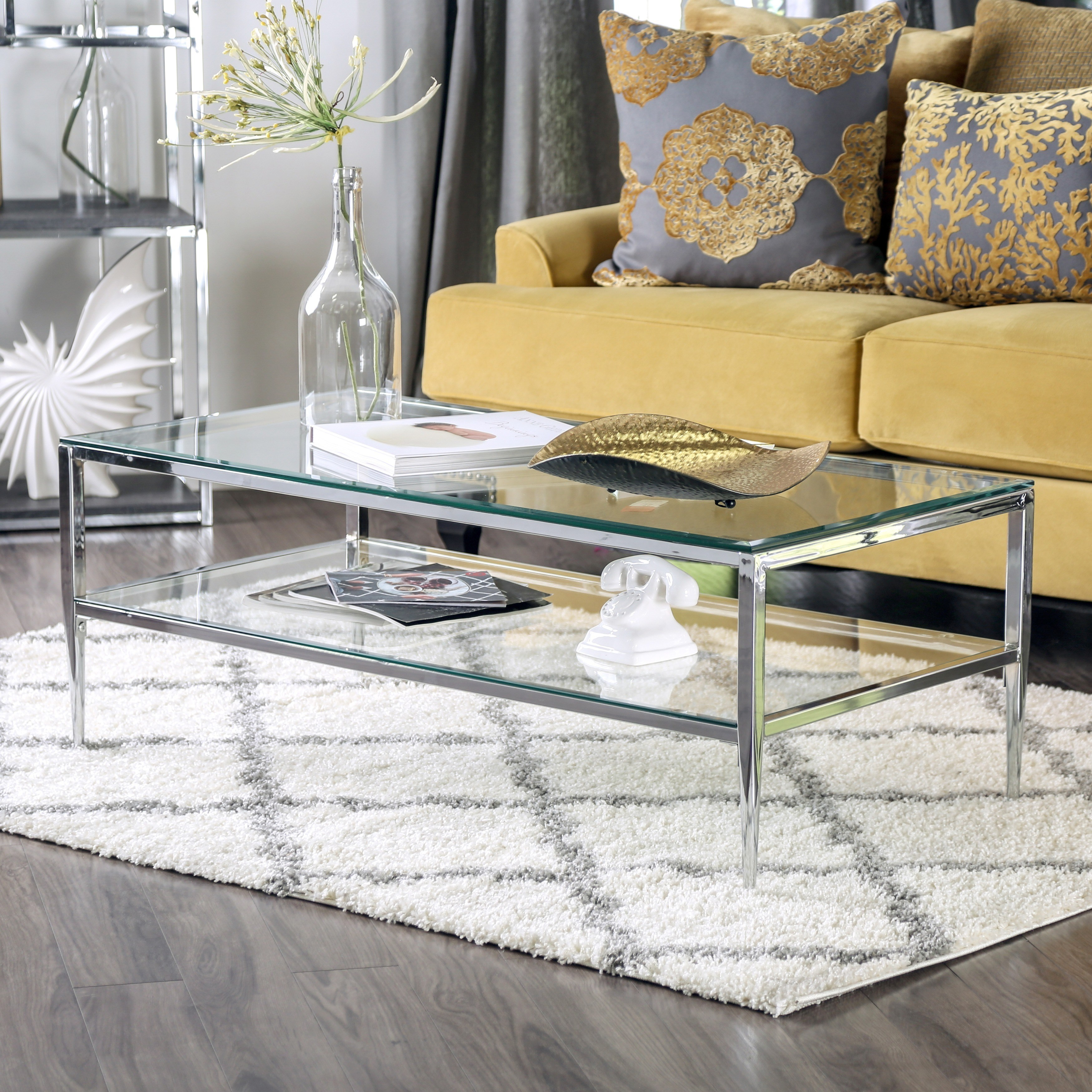 furniture america midiva contemporary metal piece accent table set living room sets free shipping today very small side accessory tables three gold glass top coffee home goods