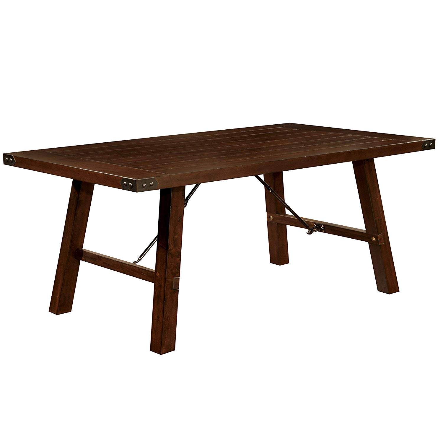furniture america montelle dark oak dining table threshold accent espresso tables outdoor battery lamps camping bunnings round wood coffee with metal legs black velvet curtains