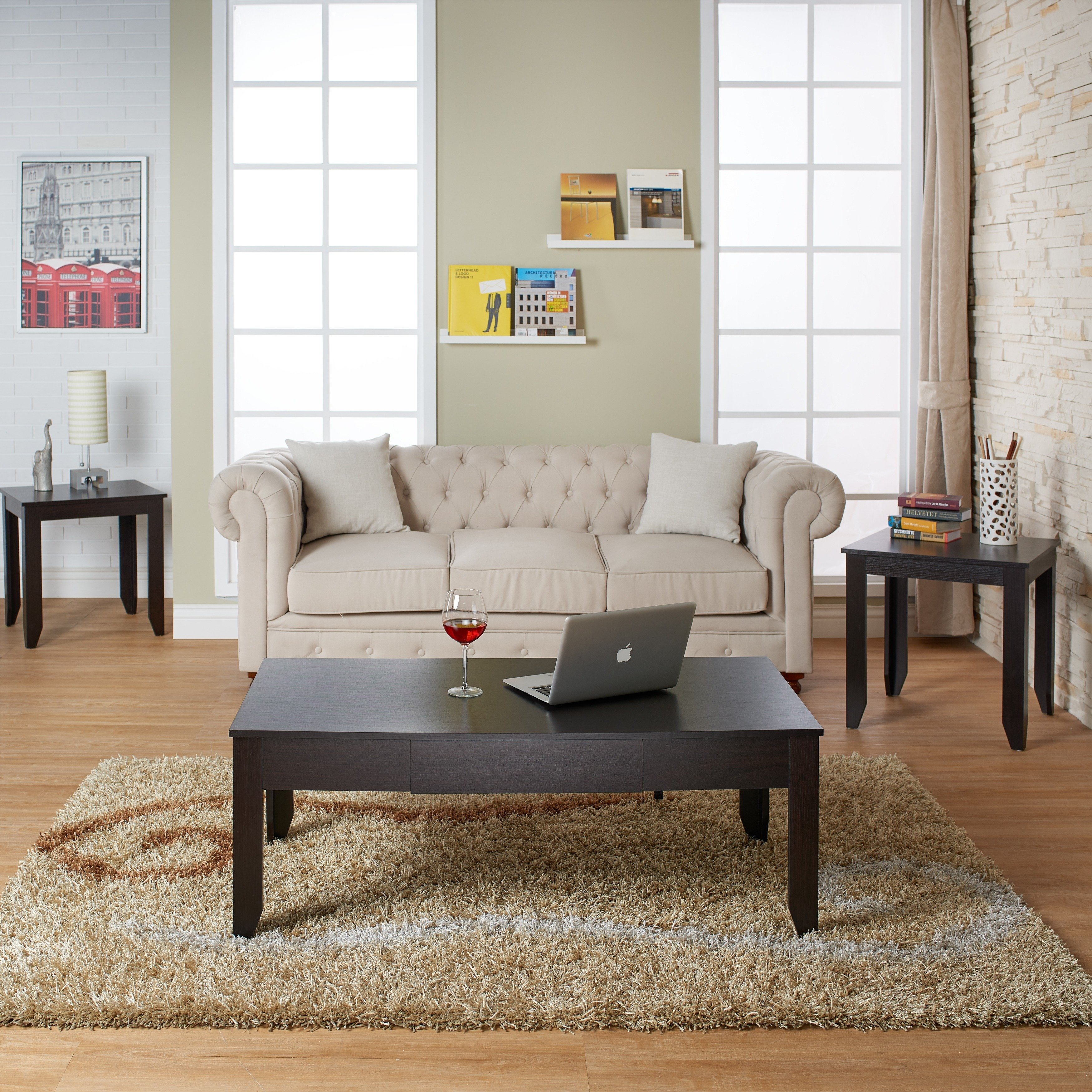 furniture america pelise piece contemporary cappuccino accent table set living room sets free shipping today home office edmonton very small side tiffany tree lamp shades plus