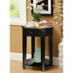 furniture america round side accent table with storage drawer fall quilted runner patterns dresser handles winsome wood counter height dining room sets rod iron patio cement thin 150x150