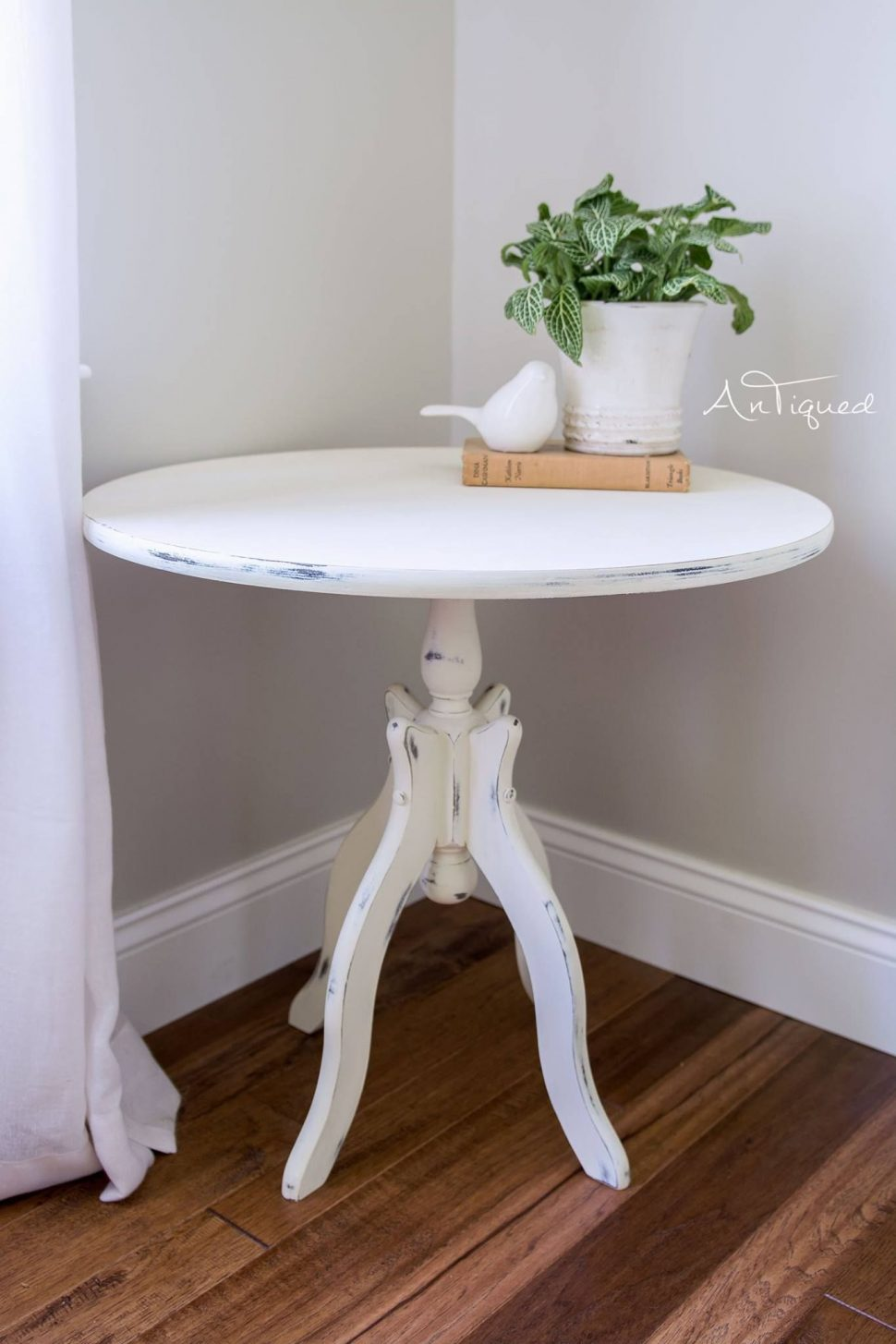 furniture antique accent table painted annie sloans old white chalk also with alluring farmhouse long dining cloth set glass end tables for living room narrow black console solid