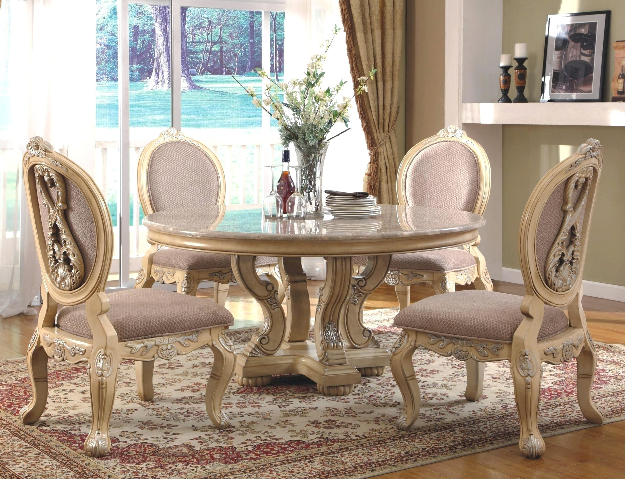 furniture antique white dining table with bench vintage set distressed room chairs furnishings traditional round pedestal piece and dark brown accent off small dinner home goods