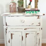 furniture appealing distressed white half moon console table with enticing small side for living room featuring gold framed wall mirror decor how you distress wood accent cabinet 150x150